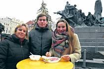 Návštěvu Prahy si dali pod stromeček. Pětačtyřicetiletá Němka Monika s dětmi Christianem a Annou přijeli po Vánocích na tři dny do Prahy.