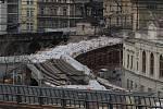 Pokračování oprav Negrelliho viaduktu 24.ledna.