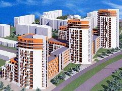 Vizualizace bytového projektu společnosti Central Group na okraji pražských Hájí.
