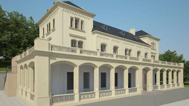 Vizualizace nové podoby Šlechtovy restaurace v Praze.