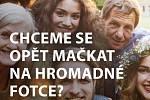 Vizuál pražské kampaně k očkování.