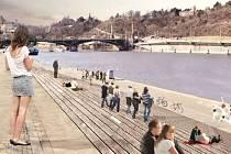 VÝSTAVA urbanistických návrhů na proměnu vltavských břehů ukazuje, jak by se dal využít veřejný prostor. Až do konce června je k vidění v sídle České komory architektů v Josefské ulici. Některé z projektů mohou posloužit i magistrátu, který se chystá k pr