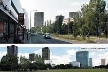 Developerská společnost Central Group představila v Praze nový návrh výškových bytových domů na Pankráci (na vizualizaci) vedle sídla České televize. Autorem projektu je architekt Josef Pleskot.