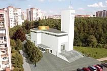 Kostel Krista Spasitele na Barrandově. Vizualizace.