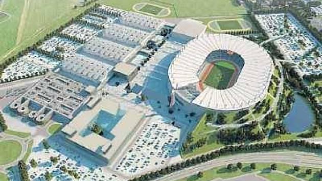 Jedna z vizí ceremoniálního stadionu.