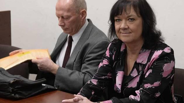 Marta Semelová u soudu, který se konal 6. ledna 2016
