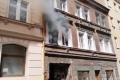 Požár na pražském Žižkově.