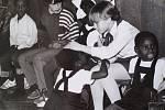Česko-namibijské setkání, školní besídka Bartošovice 1986.
