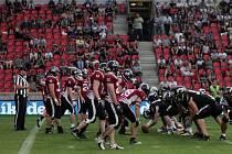 Z finále České ligy amerického fotbalu: Prague Black Panthers - Příbram Bobcats 40:0.