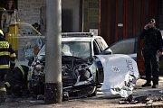 Nehoda v Ječné ulici.