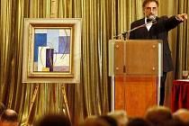 MÁ NOVÉHO MAJITELE. Na pražském Žofíně se obraz Abstraktní kompozice, s vyvolávací cenou 8,5 milionu korvydražil za plných 13,4 milionu korun.un,
