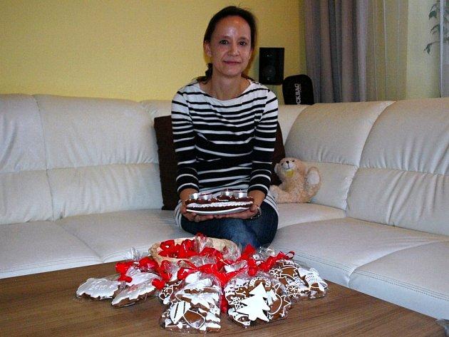 Šárka Žaludová peče ráda perníčky skoro patnáct let. Až na mateřské dovolené je začala prodávat i po internetu.