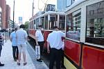 Obnovení tramvajového provozu na Pankráci.