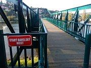 Starý most v obci Davle