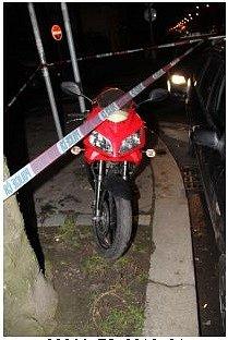 Odcizený motocykl