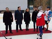Otevření se zúčastnili zástupci starosty Prahy 8 Petr Vilgus, Radomír Nepil, primátorka Adriana Krnáčová a ministr spravedlnosti Robert Pelikán (zleva)