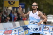 Mistrovství České republiky v silničním běhu, Praha - Běchovice, 27. září 2020 v Praze. Vítěz mužské kategorie Jakub Zemaník.