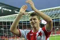 TOMÁŠ NECID. Svými dvěma góly pomohl nejen Slavii ke třem bodům, ale i sobě k druhému místu mezi pražskými střelci.