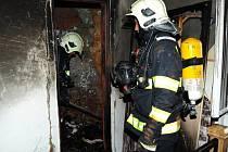 Požár na Praze 3