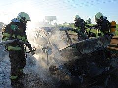 Požár aut.