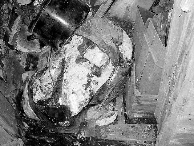 Hrůzný nález těla oběti.