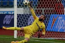 Sparta vyhrála na hřišti Baníku Ostrava 1:0. Na snímku letenský brankář David Bičík.