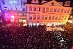 Připomínka událostí 17. listopadu v Praze na Národní třídě. 17. listopad 2019