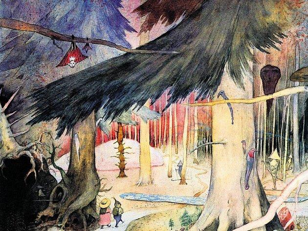 CESTA TAM A ZASE ZPÁTKY. Výtvarník František Skála má les rád. Je mu zdrojem inspirace i materiálů pro jeho díla. Výrobcům divadelní scényzakázal používat latě z obchodu, vše je vytvořeno z přírodních klacků.