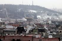 Smog v Praze.
