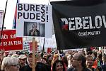 Demonstrace proti Marii Benešové a Andreji Babišovi 21. května 2019 na Václavském náměstí.