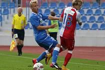 Slavia prohrála na hřišti Ústí nad Labem ve fotbalovém poháru.