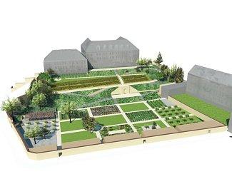 Dlouho plánovaná rekonstrukce zahrady Emauzského opatství konečně začala