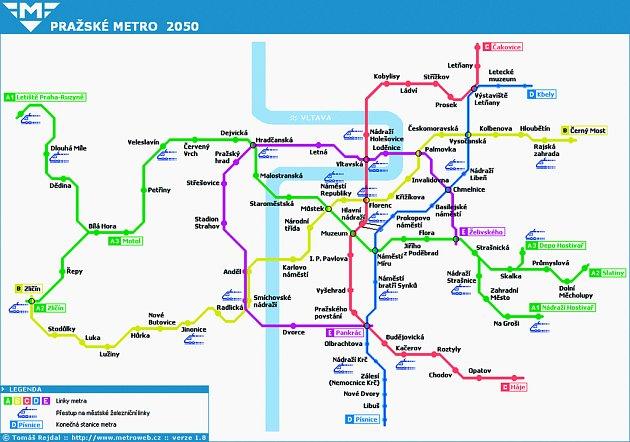 Možná podoba systému pražského metra.