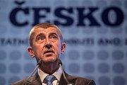 Volební sněm hnutí ANO probíhal 26.února vPraze. AndrejBabiš