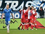 Utkání 21. kolo první fotbalové ligy Slovan Liberec - Slavia Praha.