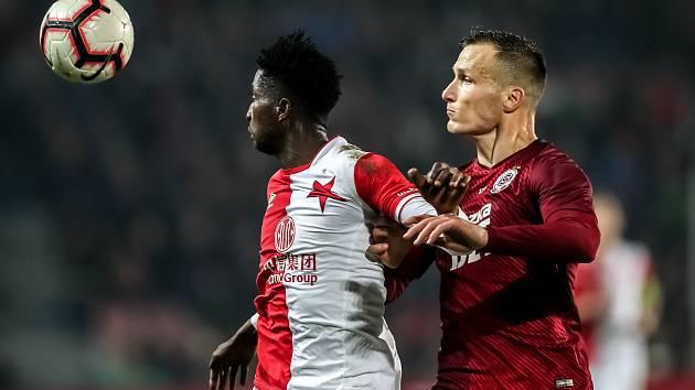 Zápas 14. kola FORTUNA:LIGY mezi Sparta Praha a Slavia Praha, hraný 4. listopadu v Praze. Štetina.