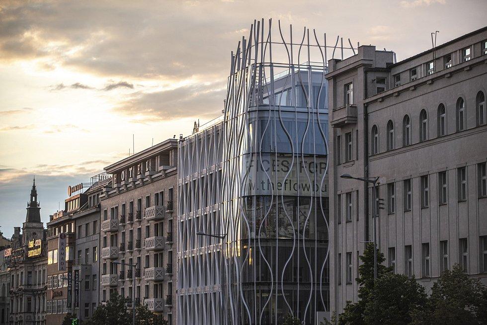 Květinový dům, budoucí Primark, 25. června 2020 na pražském Václavském náměstí.