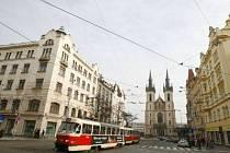 Strossmayerovo náměstí v Praze 7.