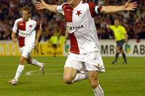 Stanislav Vlček byl se svými dvěma góly hvězdou utkání.