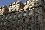Palác Adria na nároží Národní třídy a Jungmannovy ulice v Praze.