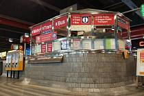 Nové infocentrum DPP na hlavním nádraží.