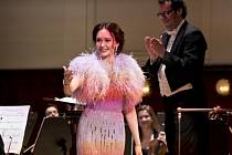 Ruská sopranistka Aida Garifullinová vystoupila v Obecním domě v Praze.