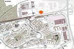 Parkovací dům na Černém mostě - mapa.