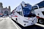 Autobus RegioJetu Scania Irizar i8 určený k zajištění provozu autobusových linek IC Bus, které RegioJet provozuje pro německé dráhy Deutsche Bahn.