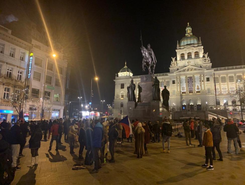 Silvestrovský podvečer v Praze.
