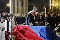 Rozloučení s bývalým prezidentem Václavem Havlem proběhlo 23. prosince v chrámu sv. Víta v Praze.