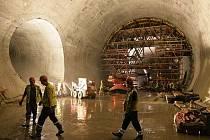 Kontrolní den na stavbě tunelového komplexu Blanka v Praze se uskutečnil 9. srpna.