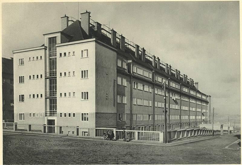 Johanisovy domy postavené družstvem Život v Nuslích, počátek 30. let 20. století.