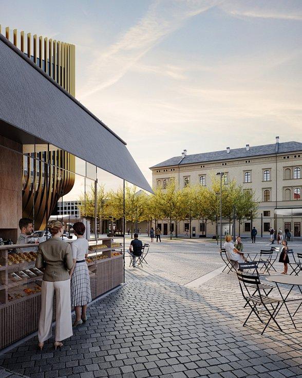 Vizualizace nového náměstí u Masarykova nádraží.