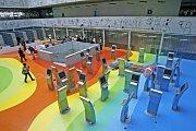 Interiér Národní technické knihovny. (Snímek ze dne 29. dubna 2009.)